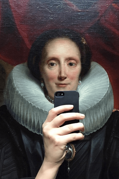 Art of the Day: Woman Turns Paintings Into Selfies