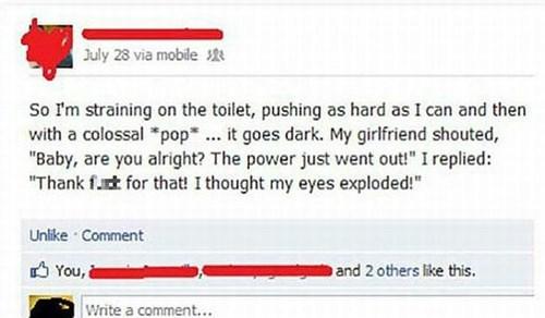gross,close call,bathroom,failbook