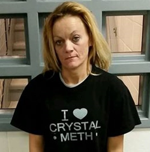 She Was Arrested for Exactly the Thing Her Shirt says She Loves