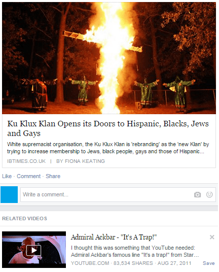 racism,what,Probably bad News,kkk,g rated,win
