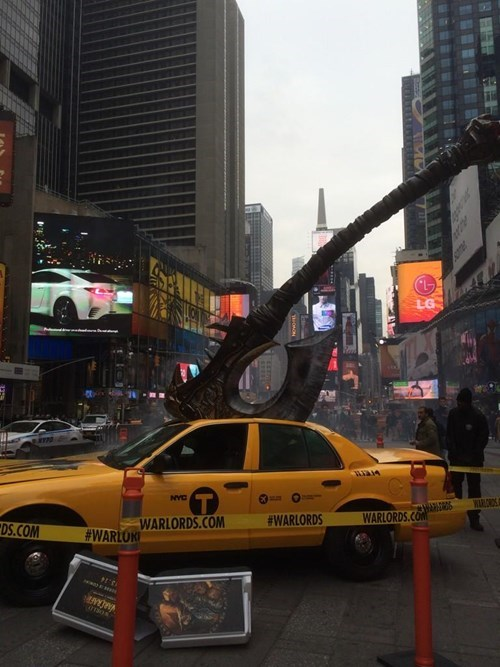 world of warcraft,warlords of draenor,Times Square,new york city