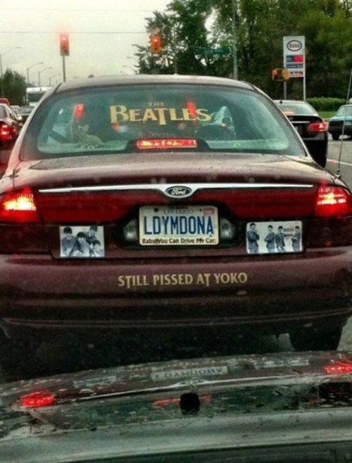 the Beatles,cars,fan,license plate
