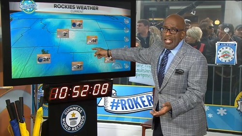 World Record Attempt of the Day: Al Roker Presents 34-Hour Weather Forecast
