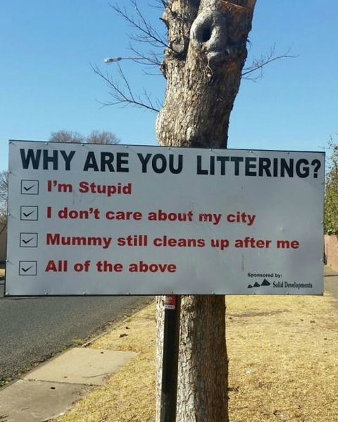 Best Anti-Littering Sign Ever
