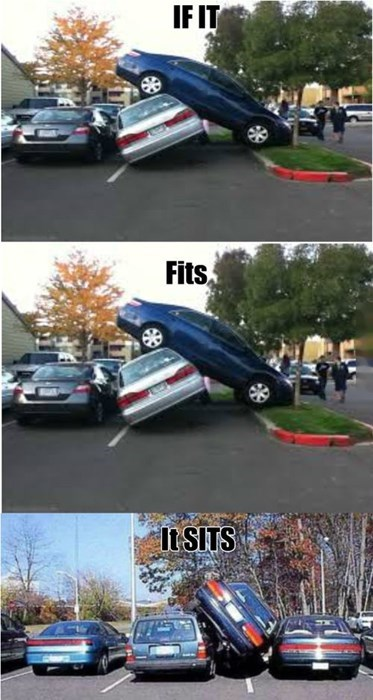 """Didn't Know You Could """"Double Buckle"""" With Car Parking"""