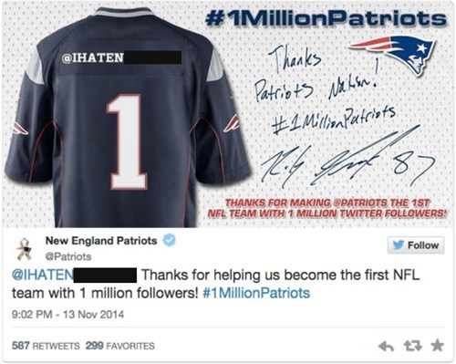 Social Media Fail of the Day: New England Patriots Thank Racist Twitter User