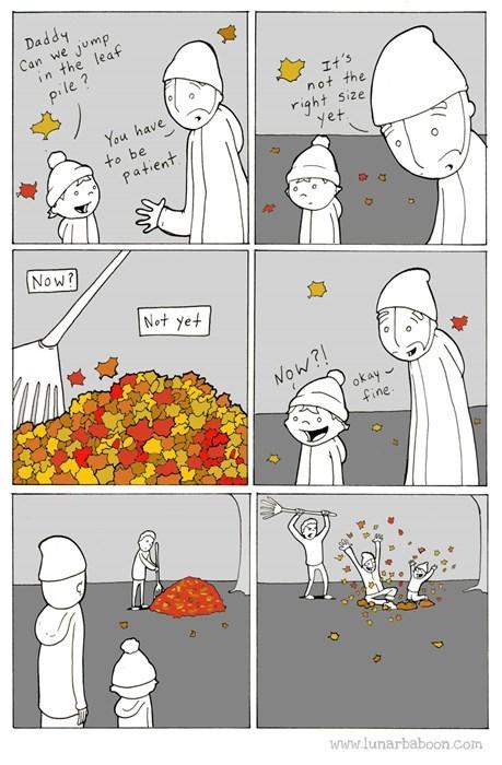 kids,parenting,leaves,web comics,fall