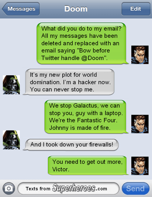 texts,doctor doom,Fantastic Four