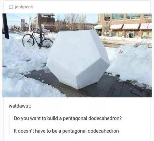 "From the Hit Disney Film ""Platonic Polygonal Frozen"""