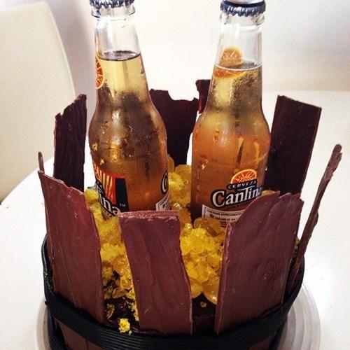 The Beer Barrel Birthday Cake