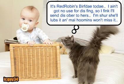 Happy Birfdays, RedRobin..  I got youz a wunnerful prezzie..