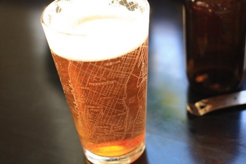 Street Map Pint Glasses, So You Can Get Drunk But Still Find Your Way Home