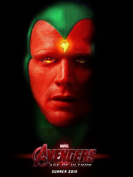 Artists Rendering of Paul Bettany as The Vision