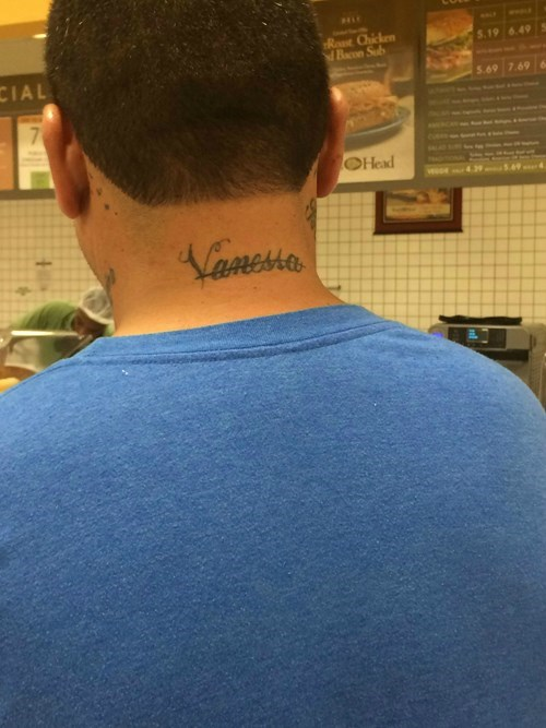 whoops,tattoos,girlfriend,Ugliest Tattoos,fail nation,g rated