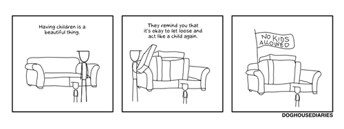 kids,couch,parenting,fort,web comics
