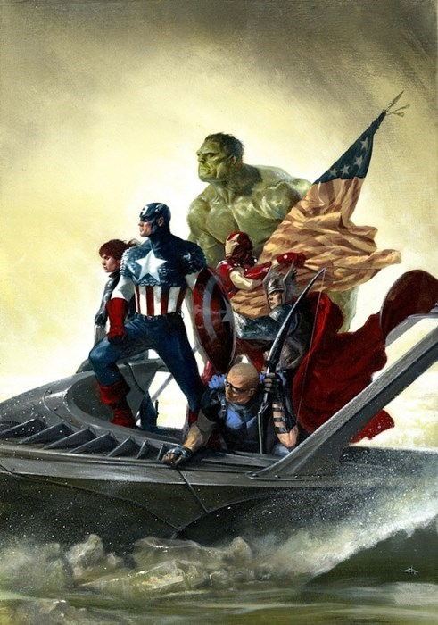 The Avengers Crossing The Delaware