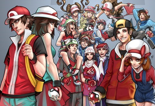 Every Pokémon Protagonist in One Image