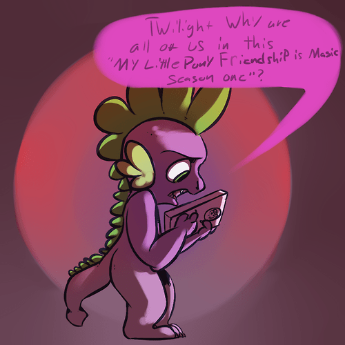 spike,fourth wall,MLP