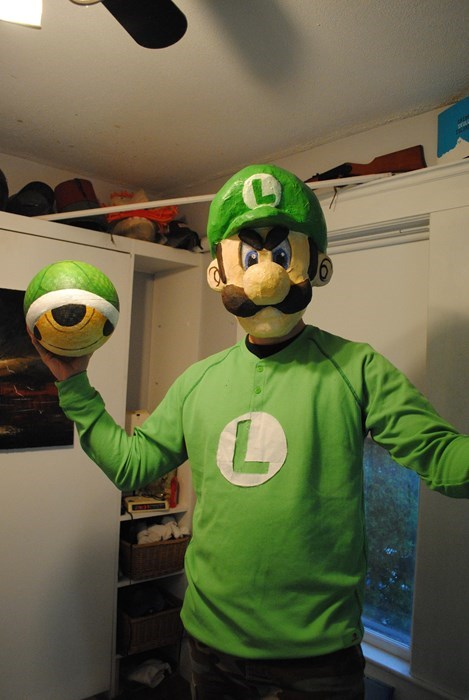 Next Level Luigi Death Stare Cosplay