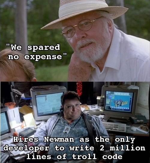 In Light of Jurassic World's New Trailer, Scumbag John Hammond