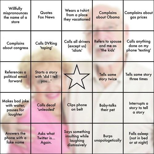 Thanksgiving In-Law Bingo