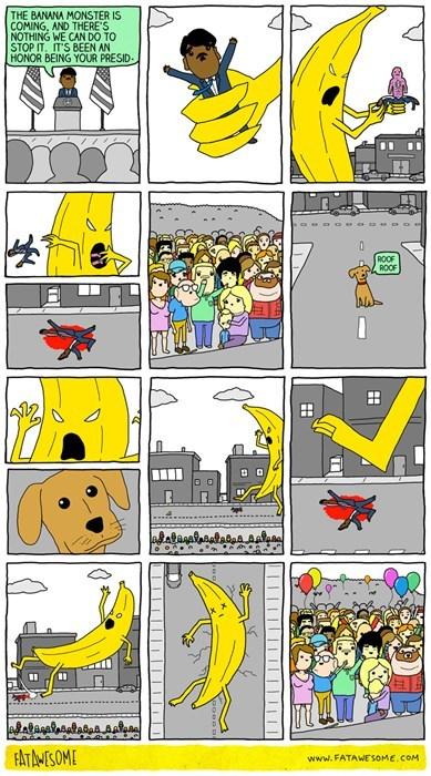 banana,sad but true,web comics,monster