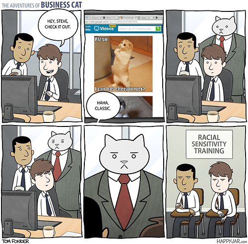 Business Cat Has No Tolerance For This Kind of Malarky