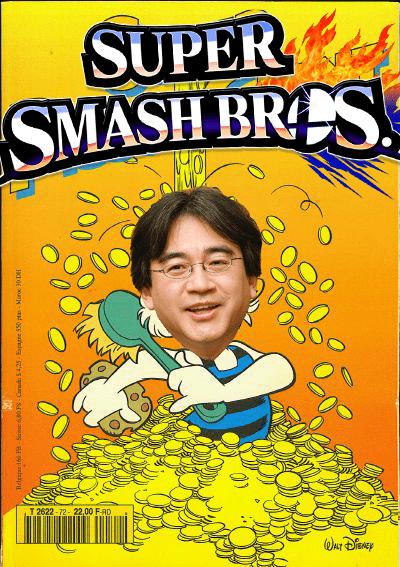 super smash bros,iwata