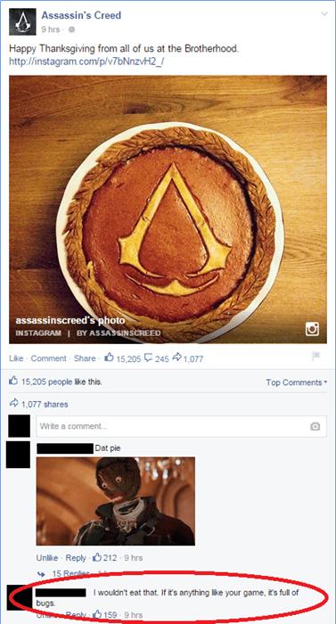 assassins creed,pie,thanksgiving