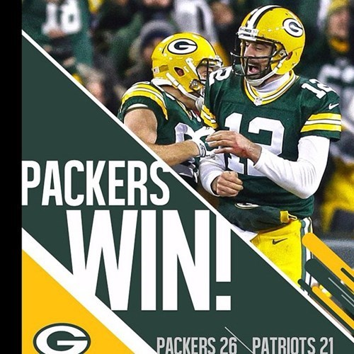 "Packers Win! So ""not"" Sorry Marrows. XD"