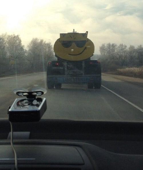 monday thru friday,smiley face,truck
