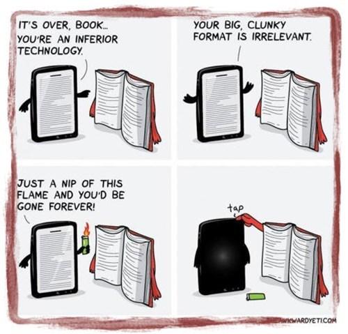 E-Reader vs. Old-Fashioned Books