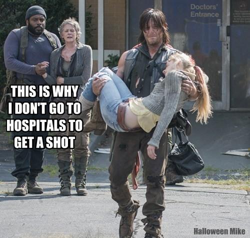 The Walking Dead - Beth gets a Shot