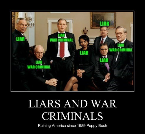 LIARS AND WAR CRIMINALS
