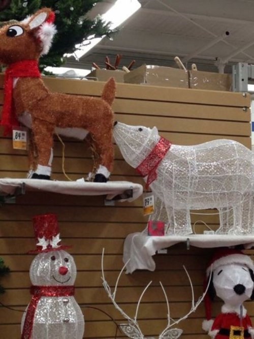 monday thru friday,christmas,reindeer,retail,polar bear,decoration,g rated