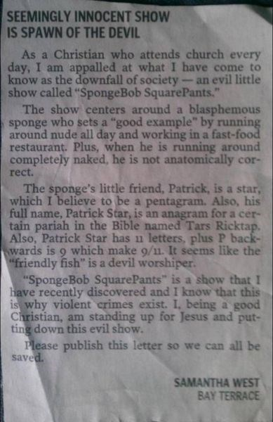 letters,conspiracy,SpongeBob SquarePants,newspaper,fail nation,g rated