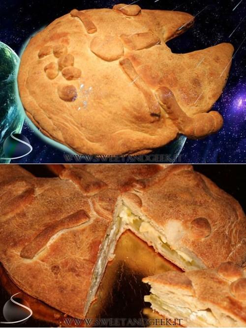 star wars,nerdgasm,pie,dessert,food,millennium falcon