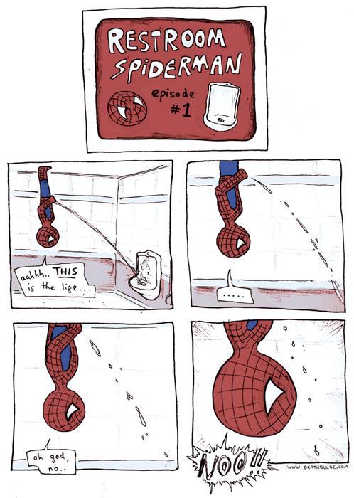 pee,Spider-Man,web comics