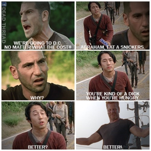 crazy,abraham ford,washington dc,shane walsh,snickers