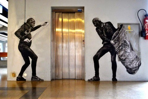 elevator,graffiti,hacked irl