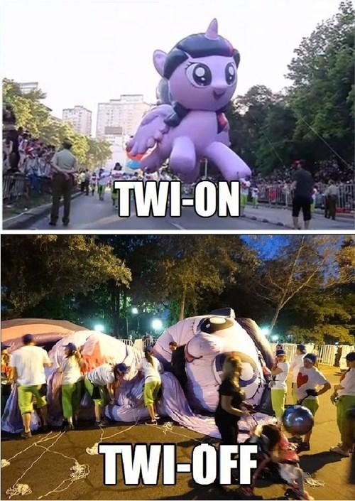 parades,twilight sparkle,derp,balloon