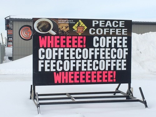 monday thru friday,sign,coffee,g rated