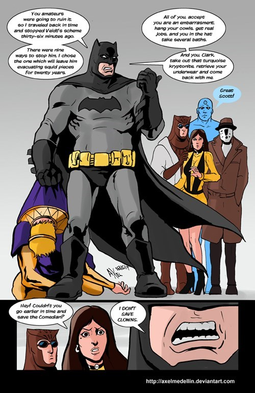 Batman Visits The Watchmen