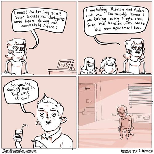 straws,puns,divorce,web comics