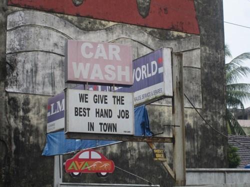 monday thru friday,sign,fine print,car wash