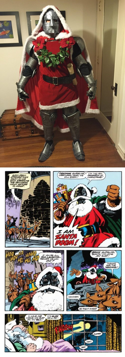 cosplay,doctor doom,santa claus