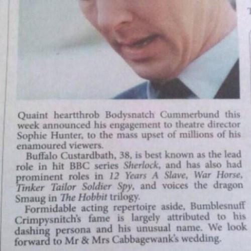 The Sheffield University Student Newspaper Responds to Bumpycloop Cramerbutch's Engagement Announcement