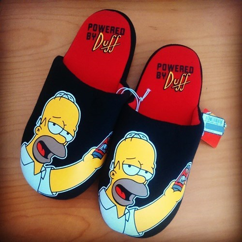 drunk,lazy,funny,homer simpson,slippers
