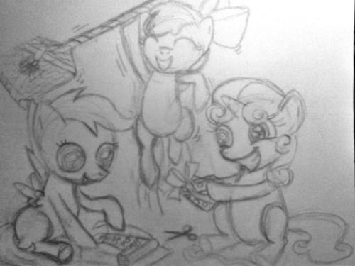 apple bloom,cutie mark crusaders,Scootaloo,Sweetie Belle