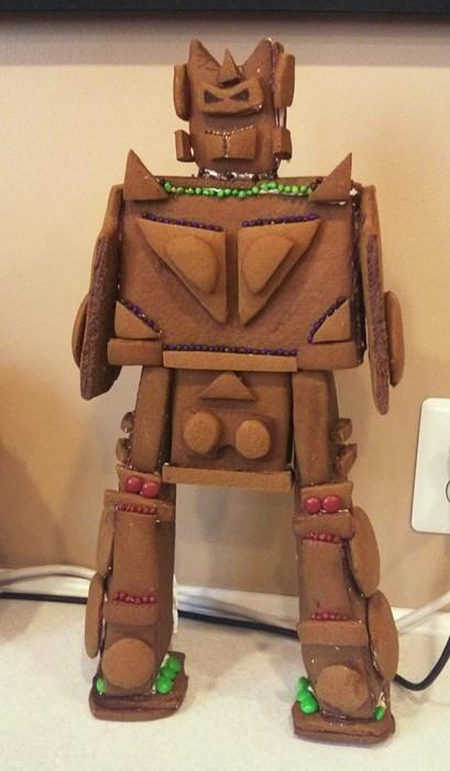 transformers,robots,gingerbread